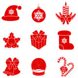 Vector Christmas silhouettes. Stock Photos