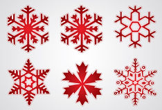 Vector christmas snowflake royalty free stock image
