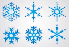 Vector christmas snowflake Royalty Free Stock Photos