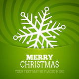 Vector christmas snowflake background poster. New year card Royalty Free Illustration