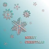 Vector christmas snowflake paper. Merry christmas. Royalty Free Stock Photo