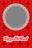 Vector christmas snowflakes background with round frame and inscription. Vector illustration for yours foto. Frame on snowflakes bakground Royalty Free Stock Photos