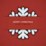 Vector christmas snowflakes on red background Royalty Free Stock Images
