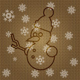 Vector Christmas Snowman. Vector Christmas Background with Snowman Royalty Free Stock Photo