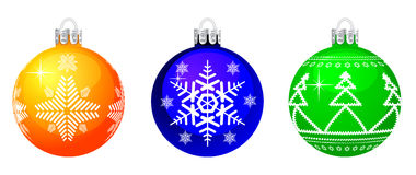 Vector Christmas sphere. Stock Photography