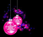 Vector Christmas sphere. Royalty Free Stock Photography