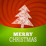 Vector christmas sree snowflake background poster Stock Image