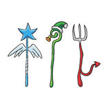 Vector Christmas Staffs Stock Photos