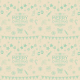Vector Christmas Subtle Doodles Seamless stock illustration