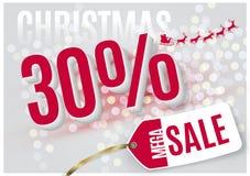 Vector Christmas Tag Royalty Free Stock Photo