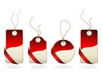 Vector Christmas tags Stock Photos
