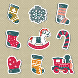 Vector Christmas tags or stickers for gifts. Stock Photography