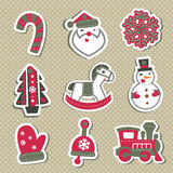 Vector Christmas tags or stickers for gifts. Stock Photos