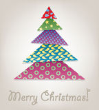 Vector Christmas tree Stock Photography