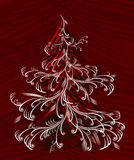 Vector christmas tree. Christmas tree, vector illustration without gradients Stock Image