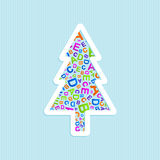 Vector Christmas tree ABC logo icon Stock Image