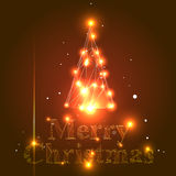 Vector Christmas Tree. Vector Abstract Christmas Tree Background with Triangles Royalty Free Stock Photo