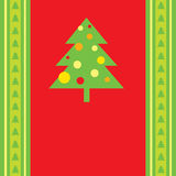 Vector Christmas tree background. Royalty Free Stock Photography