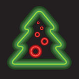 Vector Christmas tree background. Stock Images