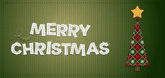 Vector Christmas Tree. Vector Christmas Background with Tree Royalty Free Stock Images