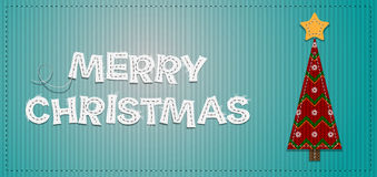 Vector Christmas Tree. Vector Christmas Background with Tree Royalty Free Stock Photo