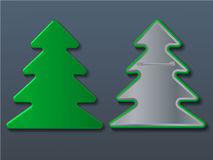 Vector christmas tree badge. Illustration Royalty Free Stock Photography