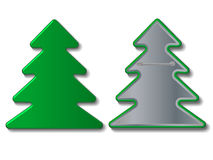 Vector christmas tree badge. Illustration Stock Photos