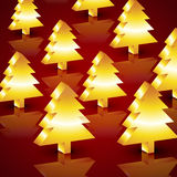 Vector christmas tree Stock Images