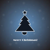 Vector christmas tree on blue background Stock Photography