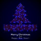 Vector christmas tree from digital electronic circuit.  Royalty Free Illustration