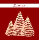 Christmas background with christmas tree. Vector Royalty Free Stock Photography