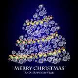 Vector Christmas Tree. File format eps 10 Royalty Free Stock Photography