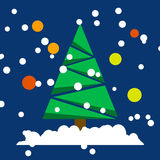 Vector christmas tree stock illustration