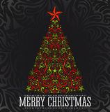 Vector Christmas tree Royalty Free Stock Photography
