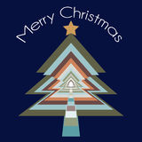 Vector christmas tree greeting card or background Royalty Free Stock Images