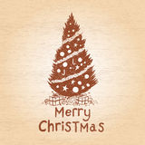 Vector Christmas Tree royalty free stock images