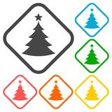 Vector Christmas tree icons Royalty Free Stock Image