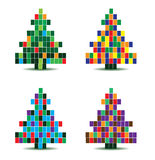 Vector christmas tree illustration Stock Images