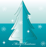 Vector christmas tree illustration Royalty Free Stock Image