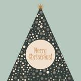 Vector Christmas tree illustration Royalty Free Stock Photography