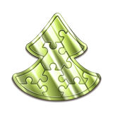 Vector christmas tree maded from puzzles Royalty Free Stock Photography