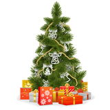 Vector Christmas Tree with Paper Decorations Royalty Free Stock Photo