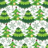 Beautiful Vector Christmas tree seamless pattern background vector illustration