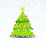 Vector Christmas tree Stock Image