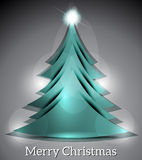 Vector Christmas Tree With Sparkle Stock Photography
