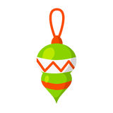 Vector of Christmas-tree toy isolated on white. Cartoon style. Cute funny icon. illustration. Vector of Christmas-tree toy isolated on white. Cartoon style Stock Photo