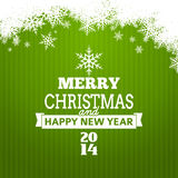 Vector christmas tree typography. Poster - new year card Stock Illustration