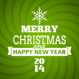 Vector christmas tree typography. Postre - new year card Royalty Free Illustration