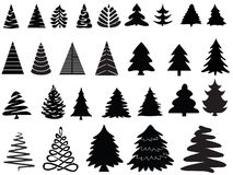 Vector christmas trees Stock Images