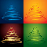 Vector christmas trees royalty free stock photos
